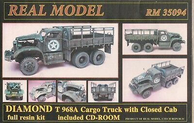 DIAMOND T968A Cargo Truck with closed Cab 1:35 Resin von Real Model neu !!!