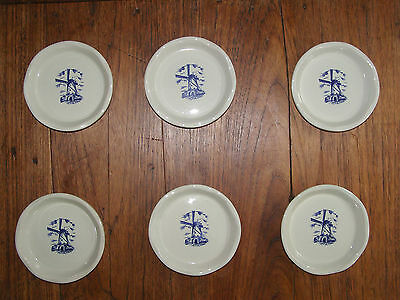 6 sous verres en porcelaine Royal Delft Holland
