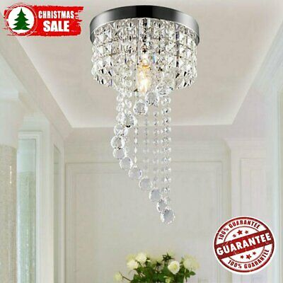 Modern Chandelier Crystal Ceiling Hanging Led Lights Pendant Lamp Light Aisle MX