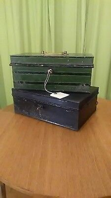 Vintage Chatwood Strong Box pre 1926,+ 1 other both with keys
