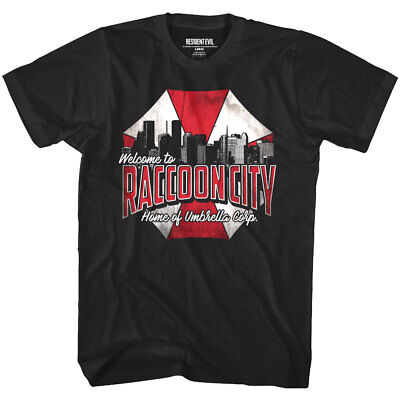 Resident Evil Welcome to Raccoon City Home of Umbrella Corp Men's T Shirt Zombie
