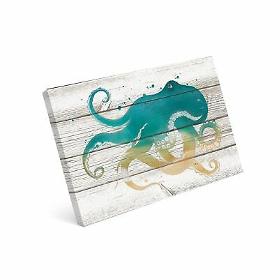 SUMGAR Teal Octopus Pictures for Living Room Kids Framed Wall Art for Bathroo...