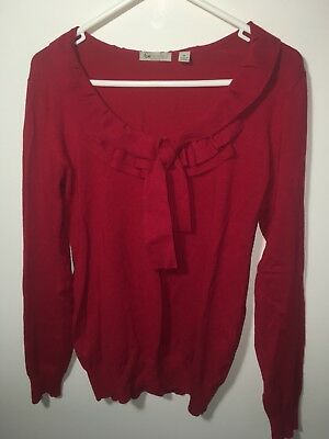 Ripe Maternity Red Jumper Knit Size Medium Work Office Business