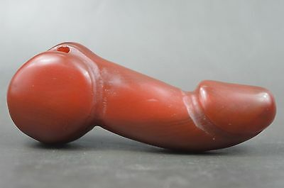 Handwork Collectible Decor Old Jade Natural Texture Carve Penis Special Netsuke