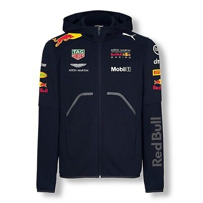 2018 RED BULL Racing F1 Team Hooded Sweat Jacket Zip Hoody MENS – New OFFICIAL