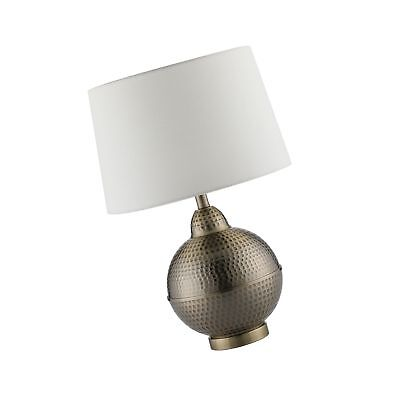 CO-Z Hammered Pot Table Lamps, Large Modern & Contemporary White Shade with H...