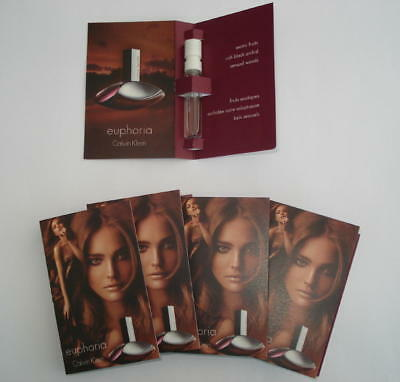 Lot 6 Echantillons Klein Euphoria Eau De Parfum 1.2 Ml Vapo Spray