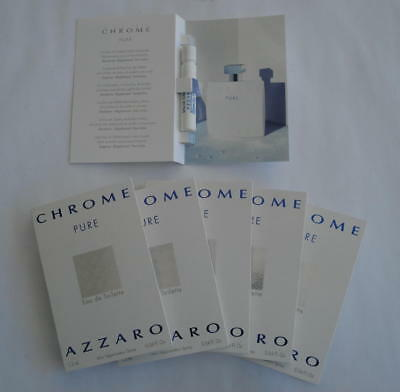 Lot 6 Echantillons Chrome Pure Azzaro - 1.2 Ml Eau De Toilette - Tigettes