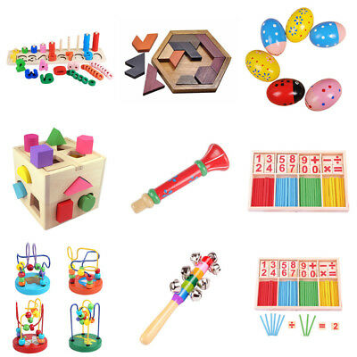 Wooden Toy Gift Baby Kids Intellectual Development Educational Early Learning UK