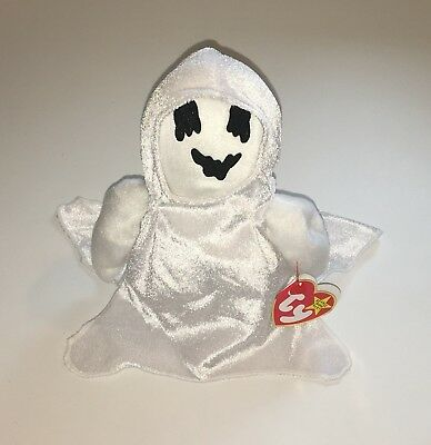 Ty Beanie Babies Scary Spooky Halloween Character Sheets The Ghoulish Ghost NWT