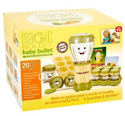 Magic Baby Bullet Blender 20 piece Set All Natural Organic Brand New Open Box