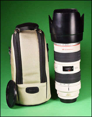 Canon EF 70-200mm F2.8L Image Stabilizer Zoom Lens with Both Caps + Hood & Case