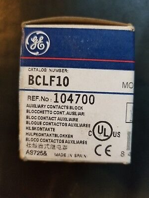 GE General Electric Aux Contact Block BCLF10 1NO,Standard,Front Mtg