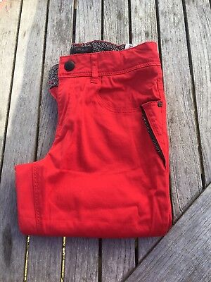 BNWOT Girls Red IKKS French Designer Jeans Trousers Slim Fit Age 12