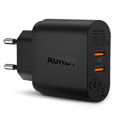 AUKEY QC3.0 new dual port fast charging wall charger charger usbtop universal