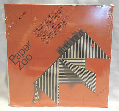 Vtg 1974 Paper Zoo by Ernst Roch Signum Press Sealed New