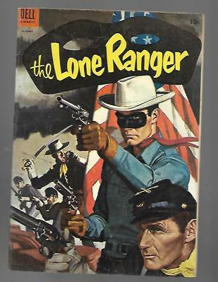 THE LONE RANGER #76 Dell Golden Age Western Cowboy Oct 1954 Comic Flag Civil War