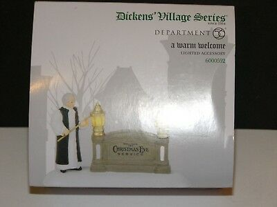 Department 56 Dickens Village Series A Warm Welcome Lighted Accessory 6000592
