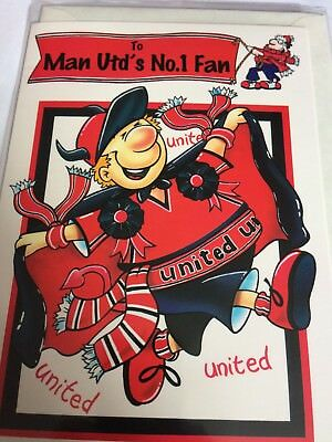 Man Utds No 1 Fan Birthday Card For A Manchester United Fc