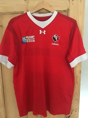 Canada 2015 World Cup Rugby Shirt Large Size Under Armour