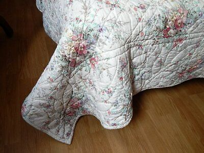 French Vintage Boutis/Quilt Provencal Traditional Cotton Print Exceptionally Big