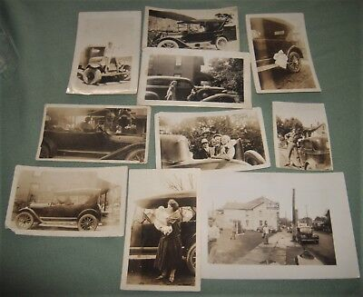 10 Early 20th Century Car Snapshops w/ People