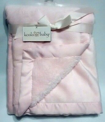 Koala Baby Babies R Us Light Pink Plush Blanket With Matte Satin Trim New w/Tags
