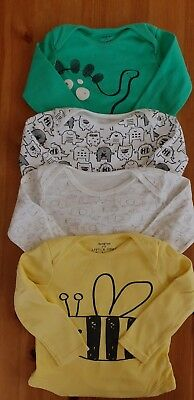 Boys 9 - 12 months - 4 long sleeve babygrows without legs