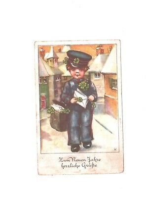 Germany, Third Reich, WWII extremely beautiful postcard,  Hitler stamp