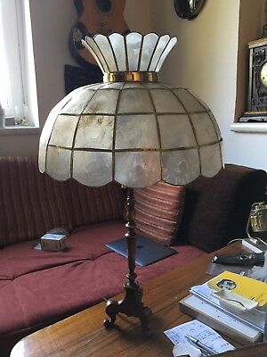Tischlampe Art Deco / Nouveau Perlmutt lamp mother of pearl tiffany style