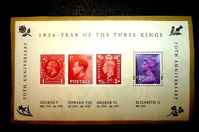 1936 ~ YEAR OF THE 3 KINGS ~ 70th Anniversary With a USEABLE CURRENT £3.00 STAMP
