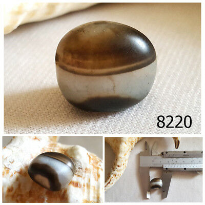 Ancient Natural Jelly Layer THICK Cake Layers EYE Agate Bead Afghanistan #8220
