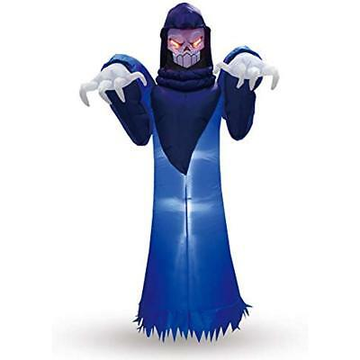 8 Foot Inflatable Yard Decorations Tall Halloween Blow Up Spooky Warlock For
