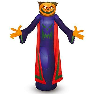 Halloween Pumpkin Inflatable Yard Decorations Wizard For Outdoor (8 Ft Tall)