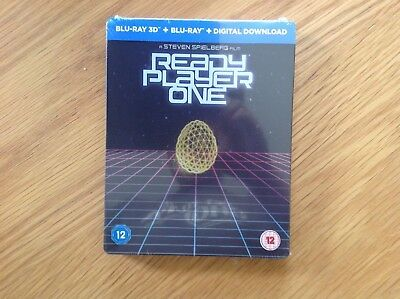 Ready Player One -- Steelbook (Blu ray 3D, Blu ray and Digital Download)