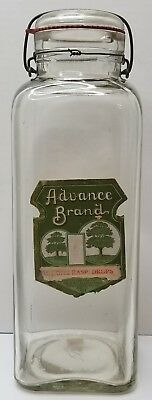 VINTAGE /ANTIQUE Store Candy Jar ADVANCE NOVELTY CANDY MFG CO New York ca 1920s