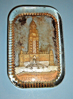 "Vintage 1901 Pan American Expo World's Fair ""Electric Tower"" GLASS PAPERWEIGHT"