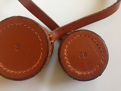 WW2 Sniper Rifle Scope Leather Lens Covers VTG 38 46 mm German American British
