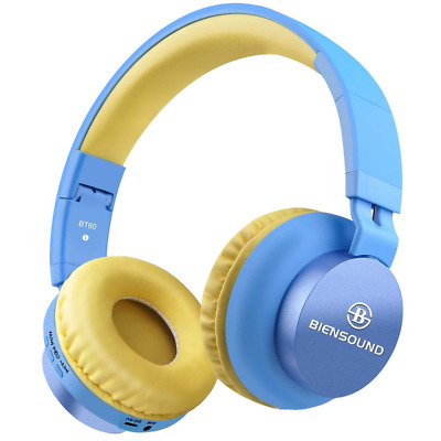 Foldable Bluetooth Headphones Wireless Over-Ear Headset For PC Computer Blue