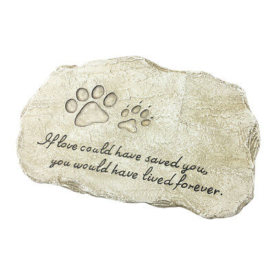 PetBuddy Pet Memorial Stones - Engraved Pet Headstones Stepping Stone for Garden