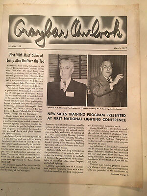 Rare Graybar Outlook Magazine dated March 1949