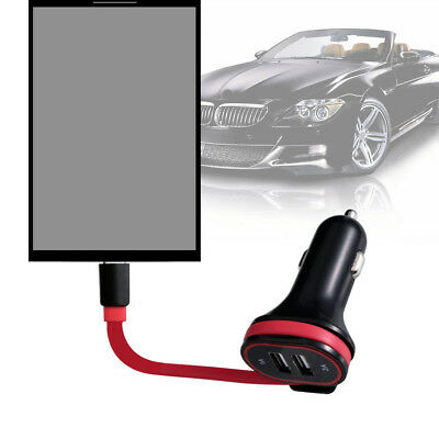 Car Fast Charging Charger W/Micro USB &Type-c Light Cable For IOS Android Phone