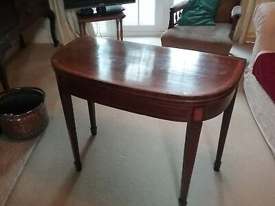 Antique Late Victorian /  Early Edwardian  Demi Lune Gate Leg Tea Table