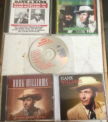 The Best Of Hank & Hank-Their Greatest Hits & Time Life Hank Williams 3Cd Lot-Nm