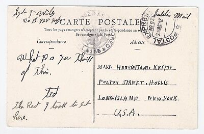 WW1 WWI US soldier Sgt Wiley, 328th Infy > Hollis, NY 1919