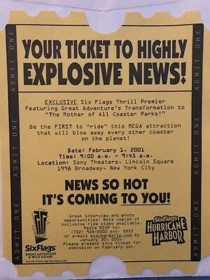 Six Flags Great Adventure Nitro roller coaster announcement poster 2001