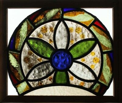 Victorian Hand Painted Kiln Fired Church Stained Glass Window