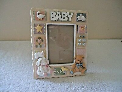 "Baby Picture Frame "" BEAUTIFUL FRAME FOR ANY NURSERY "" GREAT BABY SHOWER GIFT """