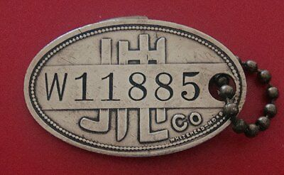 Brass Charge Coin: JL HUDSON Co (Iconic Detroit Clothing/Dept Store); w/KeyChain