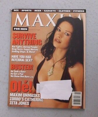 Maxim Magazine #10 / 11 July August 1998 Catherine Zeta Jones Zorro Star